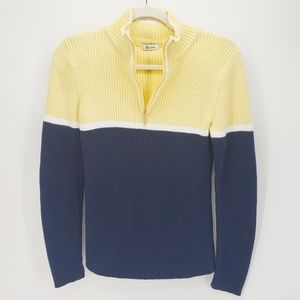 Liz & Co. | Color Block Sweater | Yellow/Blue